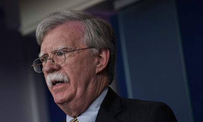John Bolton speaks at press briefing 700x420