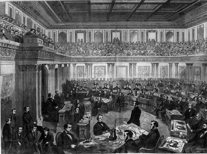 Andrew Johnson impeachment Wikimedia Commons 640x479