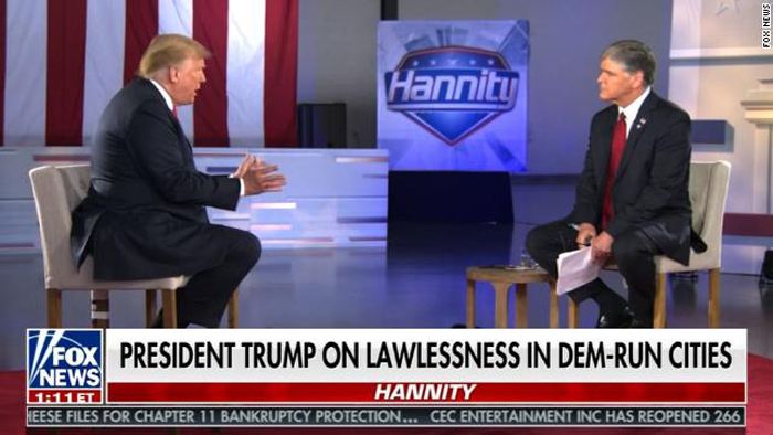 Trump tells 'Hannity' town hall crime in these Dem-run cities 'worse than Afghanistan'