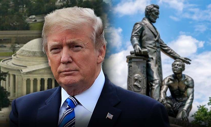 "President Trump announced Friday that he signed an executive order to protect American monuments, memorials and statues and threatened those who try to pull them down with ""long prison time."" ""I just had the privilege of signing a very strong Executive Order protecting American Monuments, Memorials, and Statues - and combatting recent Criminal Violence,"" Trump tweeted. ""Long prison terms for these lawless acts against our Great Country!"" The new order enforces laws prohibiting the desecration of public monuments, the vandalism of government property, and recent acts of violence, withholds federal support tied to public spaces from state and local governments that have failed to protect public monuments, and withdraws federal grants for jurisdictions and law enforcement agencies that fail to stop their desecration. It also provides assistance for protecting the federal statues. Meanwhile on Friday evening, Attorney General Bill Barr directed the creation of a task force to counter anti-government extremists, specifically naming those who support the far-right ""boogaloo"" movement and those who identify as Antifa. The task force will be headed by Craig Carpenito, the U.S. Attorney for the District of New Jersey, and Erin Nealy Cox, U.S. Attorney for the district of Northern Texas, and will be composed of U.S. Attorneys' Offices, the FBI and other relevant departments, according to a press release. The group will share information with local and state law enforcement and will provide training on identifying anti-government extremists, according to an internal Justice Department memo. The president has been teasing his order related to memorials all week, as historic monuments and statues have become the targets of anger and vandalism during Black Lives Matter protests in the wake of George Floyd's police custody death in Minneapolis at the end of May. DC'S CONGRESSIONAL DELEGATE WANTS 'PROBLEMATIC' LINCOLN STATUE REMOVED FROM LINCOLN PARK placeholder The initial statues under fire were Confederate soldiers and generals largely in the South due to the treatment of African-Americans, and even some high-level military officials called for the renaming of Army bases named after Confederate generals. The anger has since spread to monuments of former presidents and others deemed to be ""colonizers,"" such as Christopher Columbus, and even some who fought against slavery. On Friday night, protesters plan to try to tear down the Emancipation Statue of Abraham Lincoln in Lincoln Park. The statue shows the 16th president holding the Emancipation Proclamation next to a kneeling, shackled slave. Protesters say it does not depict the role slaves had in securing their own freedom. TRUMP ISSUES WARNING AMID VANDALISM, EFFORT TO TOPPLE ANDREW JACKSON STATUE Washington, D.C.'s congressional delegate, Eleanor Holmes Norton, said Tuesday she would introduce a House bill to remove the ""problematic"" statue. Last weekend protesters tied ropes and tried to topple a statue of former president Andrew Jackson in Lafayette Square Park, but were stopped by law enforcement. In San Francisco, protesters defaced and toppled a statue of Ulysses S. Grant, who led the Union Army during the Civil War. Protesters that same night also tore down statues of St. Junipero Serra and Francis Scott Key, who wrote the lyrics to ""The Star-Spangled Banner."" This week McConnell listed the monuments that have been defaced in recent days—noting that in Portland, Ore., a mob ""graffitied a statue of our first President, pulled it down, and burned an American flag over his head. This is George Washington."" placeholder McConnell said another Washington statue was defaced in Baltimore, a statue of Thomas Jefferson was ripped down in Portland, and others were targeted. ""This is the general and first President who built our nation, and the author of the Declaration of Independence. Genius statesmen who helped begin this grand experiment that has brought freedom to hundreds of millions and saved the world a few times for good measure,"" McConnell said. ""And yet a crazy fringe is treating their monuments like vanity statues of tinhorn tyrants."" He added: ""Our Founding Fathers are being roped to the ground like they were Saddam Hussein. The list goes on."" CLICK HERE TO GET THE FOX NEWS APP McConnell was referring to the famous moment in 2003 when a 40-foot bronze statue of the Iraqi dictator was roped and pulled to the ground, symbolizing the end of his regime. Fox News' John Roberts, Jake Gibson and Brooke Singman contributed to this report."
