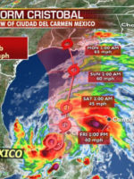 Tropical Storm Cristobal lashes Mexico, Gulf Coast states likely to have impacts by next week