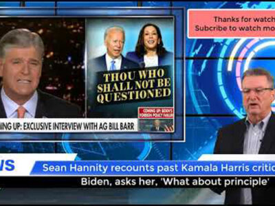 Sean Hannity recounts past Kamala Harris critiques of Biden, asks her, 'What about principle?'