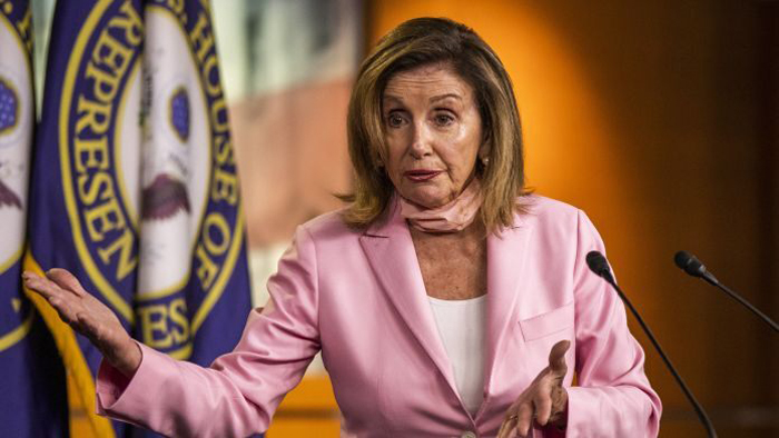 "House Speaker Nancy Pelosi slammed President Trump for suggesting that he would deliver his convention acceptance speech from the White House South Lawn, calling the proposed move ""very wrong."" ""For the President of the United States to degrade once again the White House, as he has done over and over again, by saying he's going to completely politicize it, is something that should be rejected right out of hand,"" Pelosi, D-Calif., said during an interview on MSNBC. ""It's not serious thinking,"" she said. ""It won't happen, whether it's legally wrong or ethically out of the question, it shouldn't have been something that was expressed."" TRUMP CAMPAIGN CONSIDERING POSSIBLE CONVENTION ACCEPTANCE SPEECH FROM WHITE HOUSE LAWN Earlier in the day, during an interview on ""Fox & Friends,"" Trump confirmed that his re-election campaign was exploring several options for the site of his Republican National Convention nomination acceptance speech later this month, including the South Lawn. ""We're thinking about it,"" Trump said. ""It would be the easiest from the standpoint of security. You know these, they move with a lot of people, it's a very expensive operation militarily. And law enforcement-wise. The Secret Service is fantastic. But it's a big deal."" The possibility that Trump may deliver one of his most high-profile speeches at the White House has raised questions over whether it's a violation of the Hatch Act, which prohibits federal government employees from participating in partisan political activity -- although the president and vice president are exempt. TRUMP, IN 'FOX & FRIENDS' INTERVIEW, WARNS IT COULD TAKE YEARS TO GET ELECTION RESULTS WITH MASS-MAILED BALLOTS placeholder ""I think anything you do on federal property would seem to be problematic,"" Sen. John Thune, R, S-D., told reporters this week. At the end of July, Trump abruptly canceled RNC events that were scheduled to take place in Jacksonville, Fla. amid a resurgence of coronavirus cases in the state. His decision to do so came just weeks after he moved the event from North Carolina after a health safety-related dispute with the state's Democratic governor. Several hundred Republican delegates will still meet in Charlotte to nominate Trump, whose address is scheduled to take place the final night of the three-day event, which runs from Aug. 24-27. BIDEN CAMPAIGN SHELLING OUT $280M FOR 15-STATE AD BUY The Democratic National Convention Committee on Wednesday announced the party's event will be completely virtual, with presumptive nominee Joe Biden no longer traveling to Milwaukee to deliver the acceptance speech. Biden will now deliver his keynote speech in his home state of Delaware, according to a news release."