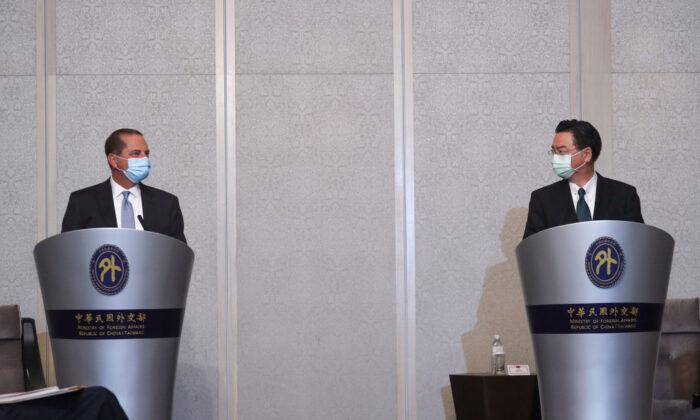 Health Secretary Azar Applauds Taiwan's Leadership in Global Health