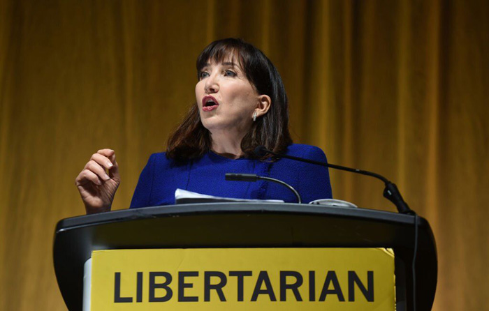 Libertarians pick first female presidential nominee