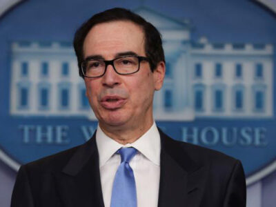 Mnuchin signals stimulus deal is near, driving Dow up nearly 400 points at open