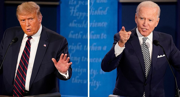 Biden and Trump attacked each other in personal terms for more than 90 minutes