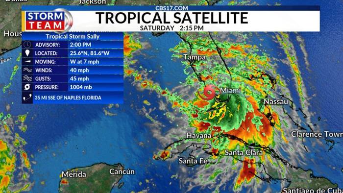 Tropical Storm Sally develops, as heavy rain expected to hit Florida, Gulf Coast this weekend