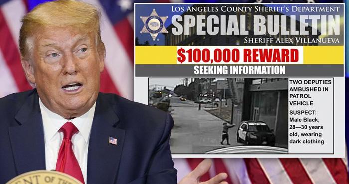 Trump calls for swift justice in shooting of ambushed deputies as manhunt intensifies in LA