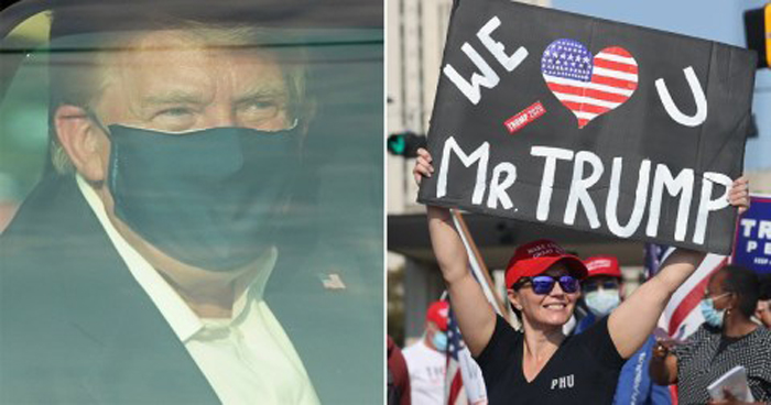 Trump thanks supporters gathered outside hospital: 'I'm about to make a little surprise visit''