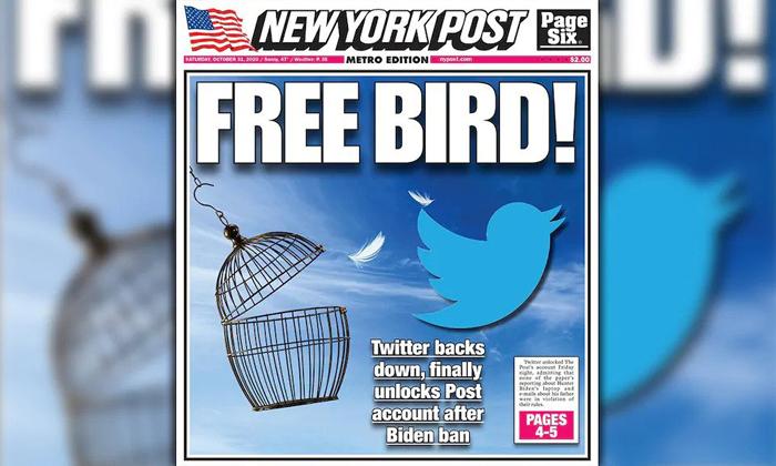 Twitter lifts New York Post's suspension over Hunter Biden report