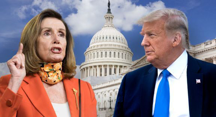 Trump knocks Pelosi, Schumer for 'blue-state bailout' amid coronavirus relief standstill