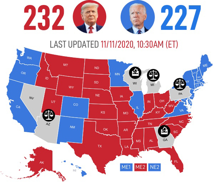2020 Election Map 11.11.2020