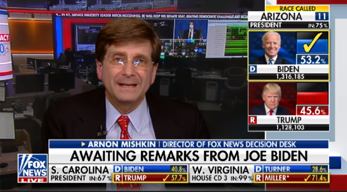Trump campaign attacks Fox News polling expert who called Arizona for Biden